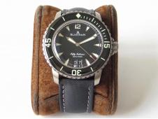 Replica Blancpain Fifty Fathoms Grande Date Black Titanium HGF Best Edition Black Dial A23J