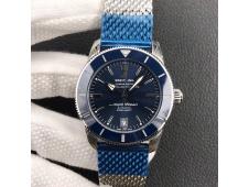 Replica Breitling SuperOcean Heritage ii 42mm GF 1:1 Best Edition Blue Dial Mesh Bracelet A2824 V2