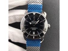 Replica Breitling SuperOcean Heritage ii 42mm SS GF 1:1 Best Edition Black Dial Mesh Bracelet A2824 V2