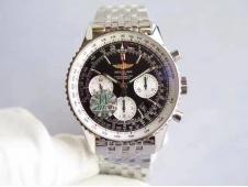 Replica Breitling Navitimer 01 SS JF 1:1 Best Edition Black Dial on SS Bracelet A7750