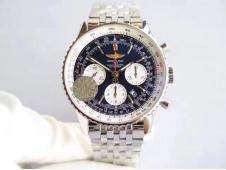 Replica Breitling Navitimer 01 SS JF 1:1 Best Edition Blue Dial on SS Bracelet A7750