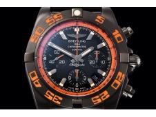 Replica Breitling Chronomat 44mm Blacksteel Orange GF 1:1 Best Edition Black Dial A7750