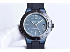Replica Bvlgari Diagono Magnesium PVD GF 1:1 Blue Textured Dial MIYOTA 9015 V2