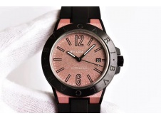 Replica Bvlgari Diagono Magnesium PVD GF 1:1 Pink Textured Dial MIYOTA 9015 V2