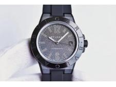 Replica Bvlgari Diagono Magnesium PVD GF 1:1 Gray Textured Dial MIYOTA 9015 V2