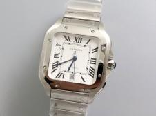 Replica Cartier Santos de Cartier 40mm 2018 GF 1:1 Best White Dial on SS SmartLinks Bracelet MIYOTA 9015 (Free Leather)