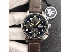 Replica IWC Pilot Chrono Spitfire IW387903 SS ZF 1:1 Best Edition Black Dial A7750