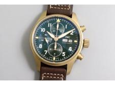 Replica IWC Pilot Chrono Spitfire IW387902 Bronze ZF 1:1 Best Edition Green Dial A7750