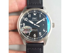 Replica IWC Mark XVIII IW327002 MKS 1:1 Best Edition Black Dial on Black Leather Strap MIYOTA 9015 V2