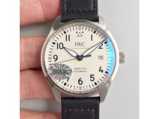 Replica IWC Mark XVIII IW327002 MKS 1:1 Best Edition White Dial on Black Leather Strap MIYOTA 9015 V2