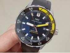 Replica IWC Aquatimer IW356802 ZZF 1:1 Best Edition Black Dial on Black Rubber Strap MIYOTA9015