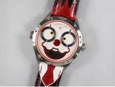 Replica Konstantin Chaykin Joker SS White Joker Dial on Black Leather Strap NH35A