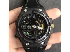 Replica Linde Werdelin Spidolite II Tech Green Forge Carbon V6F 1:1 Best Edition on Black Nylon Strap A7750 V2