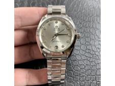 Replica OMEGA Aqua Terra 150M 34mm Ladies SS VSF 1:1 Best Edition Silver Dial Diamonds Markers on SS Bracelet A8800
