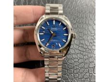 Replica OMEGA Aqua Terra 150M 34mm Ladies SS VSF 1:1 Best Edition Blue Wave Dial on SS Bracelet A8800