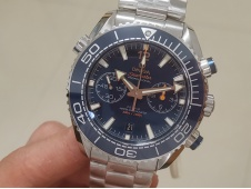 Replica OMEGA Planet Ocean Master Chronometer OMF 1:1 Best SS Blue Polished Bezel Blue Dial on SS Bracelet A9900 V3