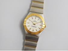 Replica OMEGA Constellation Ladies 27mm 8848F 1:1 Best Edition 2tone SS/Yellow Gold White MOP Dial ETA Quartz