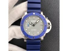 Replica Panerai PAM959 42mm VSF 1:1 Best Edition Blue Ceramic Bezel Gray Dial on Blue Rubber Strap P.9010 Clone