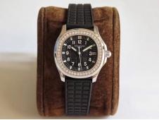 Replica Patek Philippe Aquanaut Luce Ladies 5068 JJF Diamonds Bezel Black Dial A324 movt