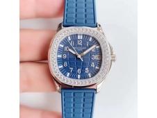 Replica Patek Philippe Aquanaut Luce Ladies 5068 JJF Diamonds Bezel Blue Dial A324 movt