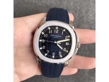 Replica Patek Philippe Aquanaut 5167 SS KMF 1:1 Best Edition Blue Dial on Blue Rubber Strap A324 Clone