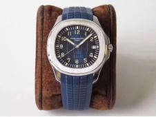 Replica Patek Philippe Aquanaut 5168G 42mm SS ZF 1:1 Best Edition Blue Dial on Blue Rubber Strap 324CS (Free box)