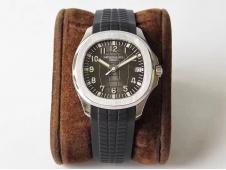 Replica Patek Philippe Aquanaut 5167A SS ZF 1:1 Best Edition Black Dial on Black Rubber Strap 324CS (Free box)