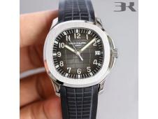 Replica Patek Philippe Aquanaut 5167 SS 3KF Best Edition Gray Dial on Black Rubber Strap A324 Super Clone