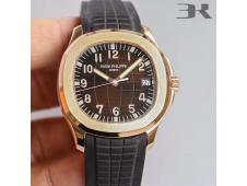 Replica Patek Philippe Aquanaut 5167R Rose Gold 3KF Best Edition Brown Dial on Brown Rubber Strap A324 Super Clone