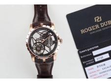 Replica Roger Dubuis Excalibur Rddbex0392 Rose Gold BBR V3 1:1 Best Edition Skeleton Dial A2136 Tourbillon