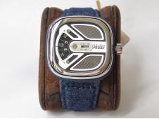 Replica Sevenfriday M1B/01 SVF 1:1 Best Edition Black Dial on Blue Cloth Strap Miyota 8215