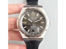 Replica Vacheron Constantin VC Overseas SS JJF 1:1 Best Edition Gray Dial on Black Rubber Strap MIYOTA9015