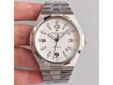 Replica Vacheron Constantin VC Overseas SS JJF 1:1 Best Edition White Textured Dial SS Bracelet MIYOTA9015