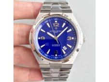 Replica Vacheron Constantin VC Overseas SS JJF 1:1 Best Edition Blue Textured Dial SS Bracelet MIYOTA9015