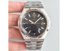 Replica Vacheron Constantin VC Overseas SS JJF 1:1 Best Edition Black Textured Dial SS Bracelet MIYOTA9015
