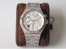 Replica Vacheron Constantin VC Overseas Dual Time Power Reserve TWA Best Edition White Dial SS Bracelet A1222