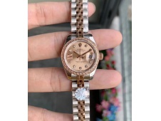Replica Rolex Datejust 28MM 279171 Ladies WF Rose Gold/Steel Diamond Bezel Pink Dial Swiss ETA 2671 Watch