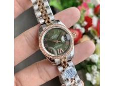 Replica Rolex Datejust 28MM 279171 Ladies WF Rose Gold/Steel Diamond Bezel Green Dial Swiss ETA 2671 Watch