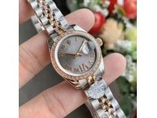 Replica Rolex Datejust 28MM 279171 Ladies WF Rose Gold/Steel Diamond Bezel Gray Dial Swiss ETA 2671 Watch