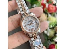 Replica Rolex Datejust 28MM 279171 Ladies WF Rose Gold/Steel Diamond Bezel MOP Dial Swiss ETA 2671 Watch