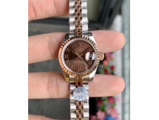 Replica Rolex Datejust 28MM 279171 Ladies WF Rose Gold/Steel Brown Dial Swiss ETA 2671 Watch