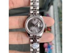 Replica Rolex Datejust 28MM Ladies WF Diamond Bezel Gray Dial Swiss ETA 2671