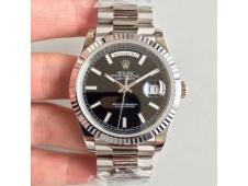 Replica Rolex Day-Date 40 228239 Noob 1:1 Best Edition Black Dial President Bracelet A3255