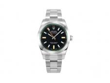 Replica Rolex Milgauss 116400GV Real Green Sapphire 904L DJF 1:1 Best Edition Black Dial on SS Bracelet A2836