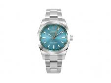 Replica Rolex Milgauss 116400 GV Real Green Sapphire 904L DJF 1:1 Best Edition Blue Dial on SS Bracelet A2836