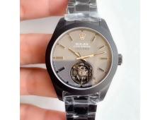 Replica Rolex Milgauss Black PVD Label Noir Tourbillon V9F Best Edition on PVD Bracelet