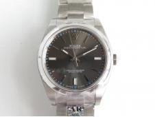 Replica Rolex Oyster Perpetual 39mm 114300 ARF 1:1 Best 904L SS Gray Rhodium Dial SH3132
