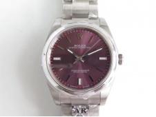 Replica Rolex Oyster Perpetual 39mm 114300 ARF 1:1 Best 904L SS Red Grape Dial SH3132