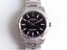 Replica Rolex Oyster Perpetual 39mm 114300 ARF 1:1 Best Edition 904L SS Black Dial SH3132