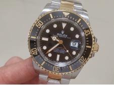 Replica Rolex Sea-Dweller Two Tone SS/Yellow Gold 126603 ARF 1:1 Best Edition 904L A2824